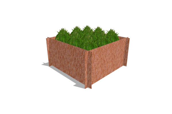 Greenlife Corten Steel Raised Garden Bed - 900 x 900 x 450mm