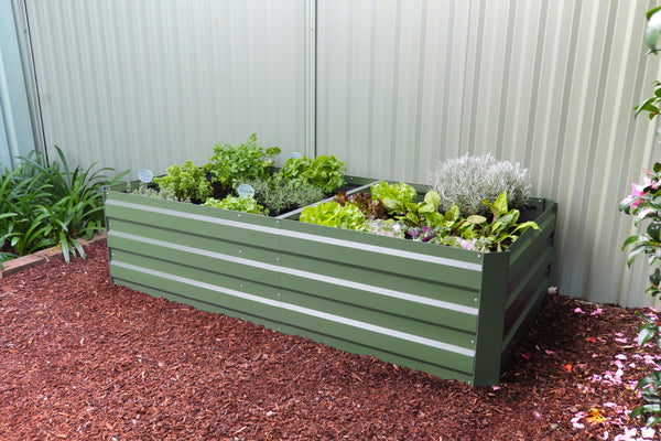 Greenlife Large Raised Garden Bed with Support Braces  - 1800 x 900 x 450mm - Eucalypt Green