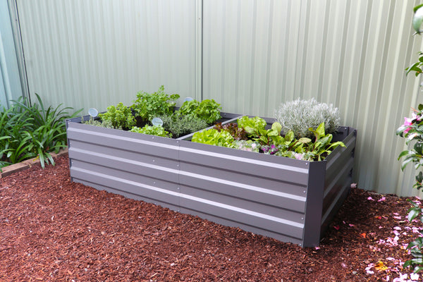 Greenlife Large Raised Garden Bed - 1800 x 900 x 450mm - Slate Grey