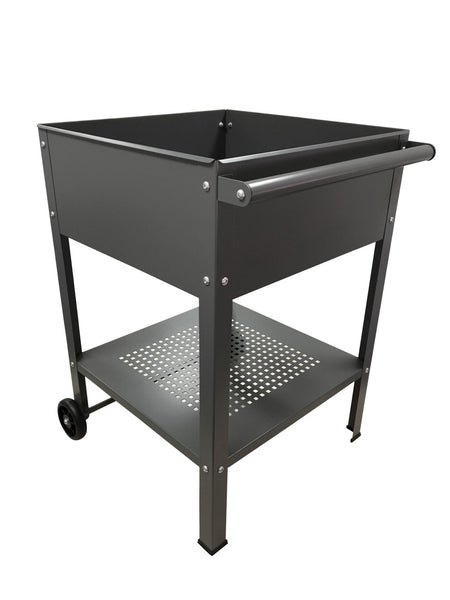 Greenlife Mobile Planter Trolley - 550 x 550 x 800mm - Slate Grey