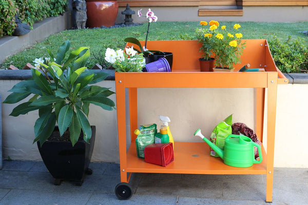 Greenlife Potting Bench - 1000 x 550 x 1010mm - Tangerine