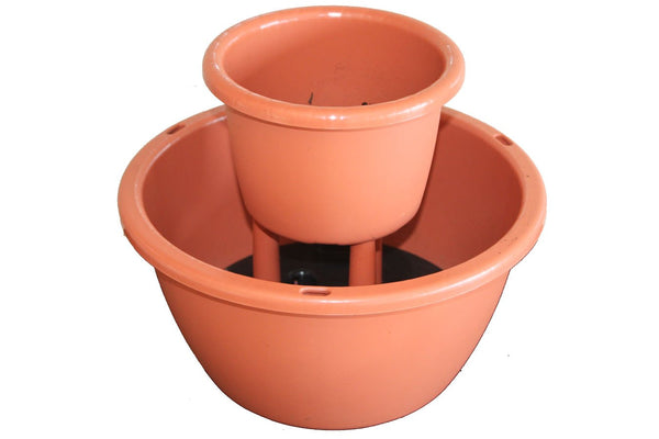 Two Tier Cascading Pot - Terracotta