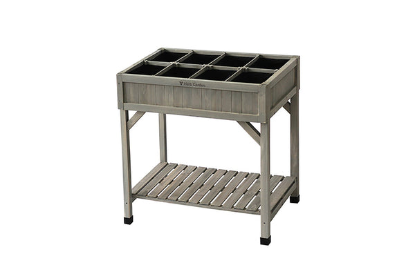 VegTrug Wooden Herb Garden Raised Planter - Grey Wash