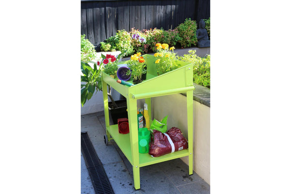 Greenlife Potting Bench - 1000 x 550 x 1010mm - Fresh Lime