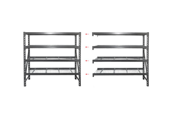 Summit Industrial Shelving - 4 Shelf Bay Kit + Add-on Bay Kit