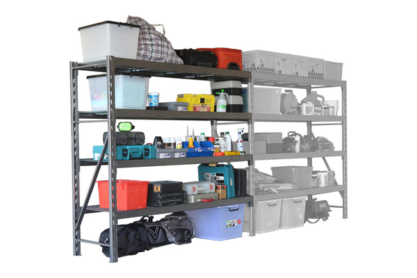 Summit Industrial Shelving - 4 Shelf Add-On Bay Kit