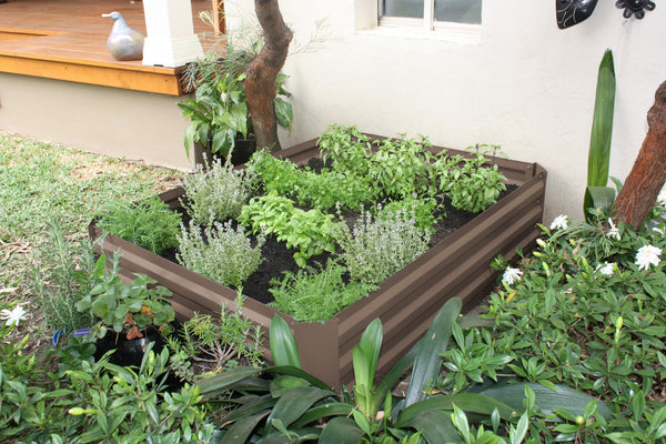 Greenlife Raised Garden Bed - 1200 x 900 x 300mm - Stone Brown
