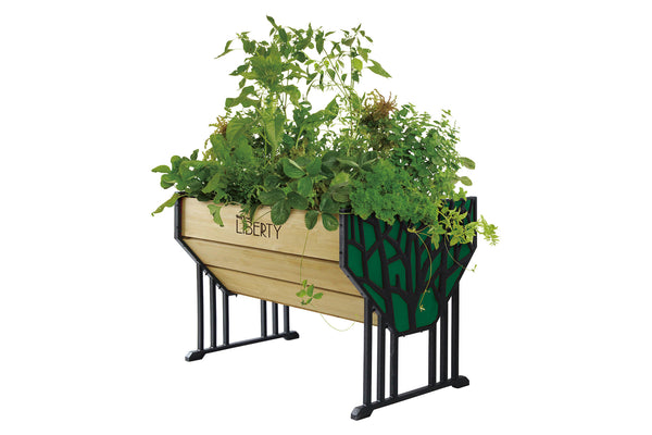 VegTrug Liberty Wooden Raised Planter with Metal Ends