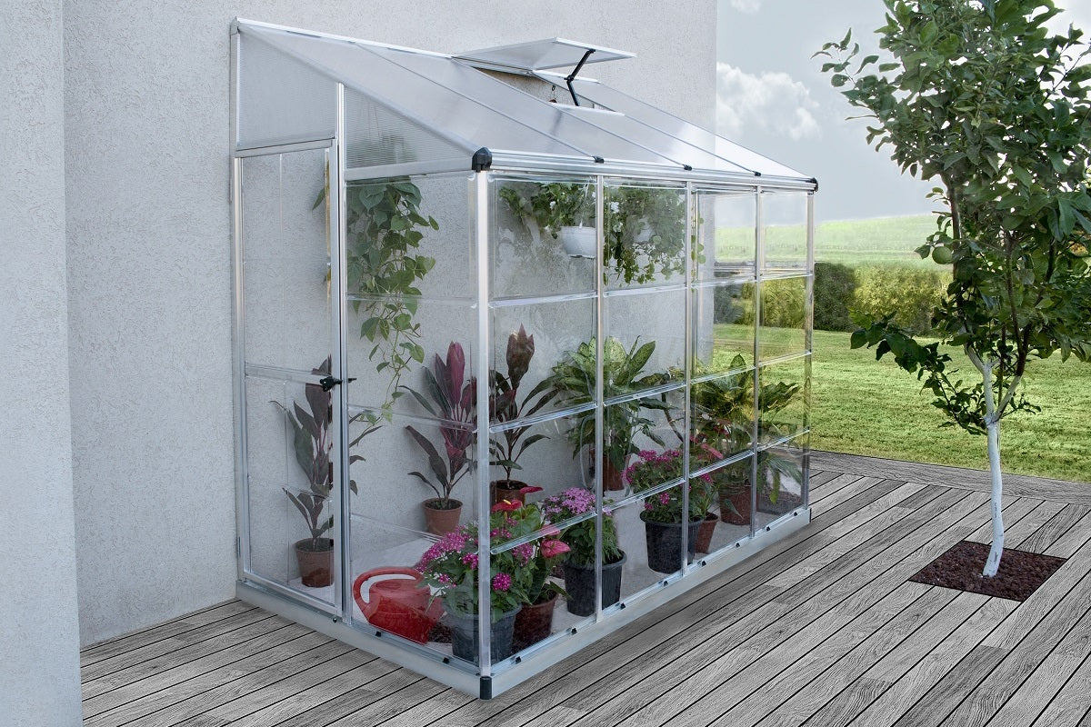 Maze Lean-To Greenhouse 8\' x 4\' - Greenlife