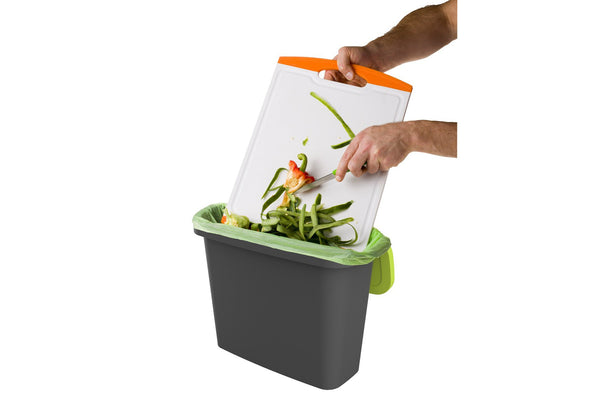 9 Litre Slim Kitchen Bench Compost Caddy Bin (9L)