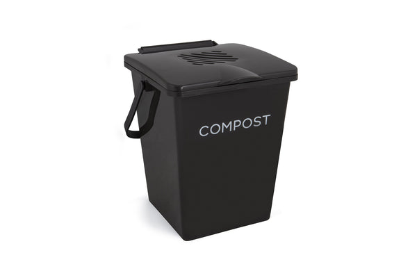 Tumbleweed 7L Organic Kitchen Compost Bin - Black