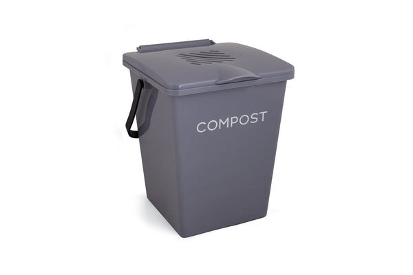 Tumbleweed 13L Organic Kitchen Compost Bin - Slate Grey