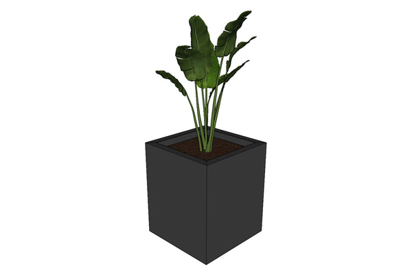 Greenlife Planter Box - 340 x 340 x 400mm - Charcoal