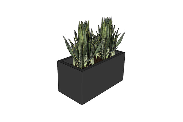 Greenlife Planter Box - 600 x 300 x 300mm - Charcoal