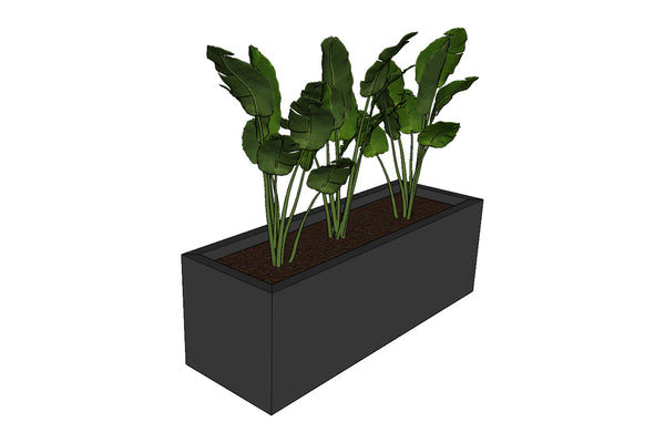 Greenlife Planter Box - 900 x 300 x 300mm - Charcoal