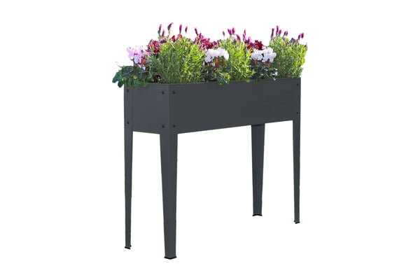 Greenlife Raised Garden Planter - 1000 x 300 x 800mm - Charcoal