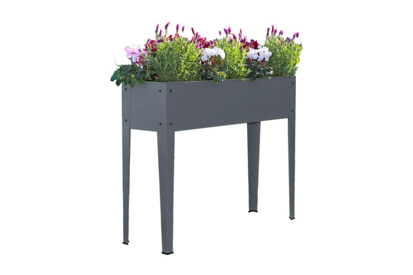 Greenlife Raised Garden Planter - 1000 x 300 x 800mm - Slate Grey