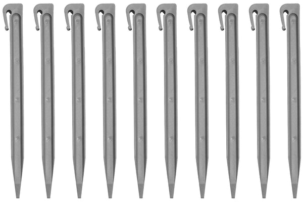 Greenlife Recycled Plastic Garden Pegs x10 - Slate Grey