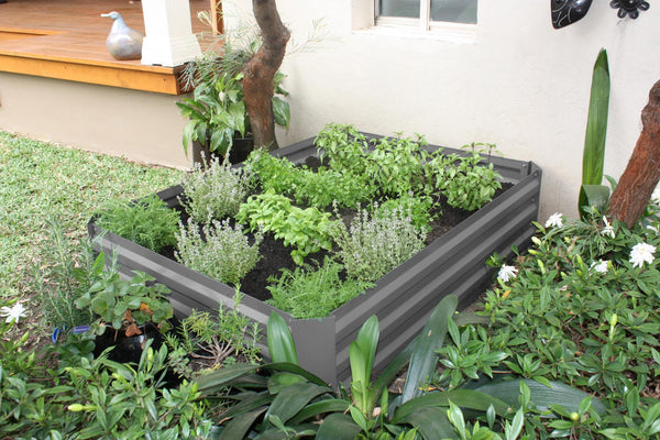Greenlife Raised Garden Bed - 1200 x 900 x 300mm - Slate Grey