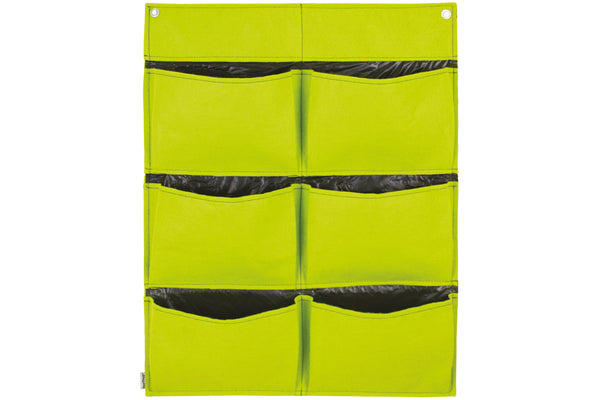 Takasho Felt Vertical Garden Wall - 6 Pocket Fresh Lime