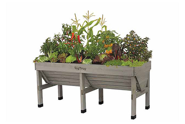 VegTrug Wooden Raised Planter Medium - Grey Wash