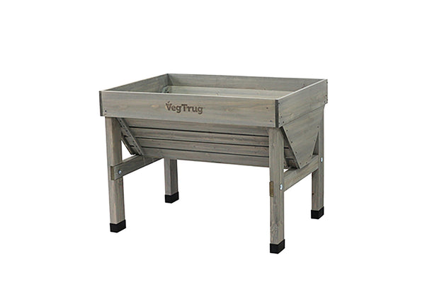 VegTrug Wooden Planter Small - Grey Wash