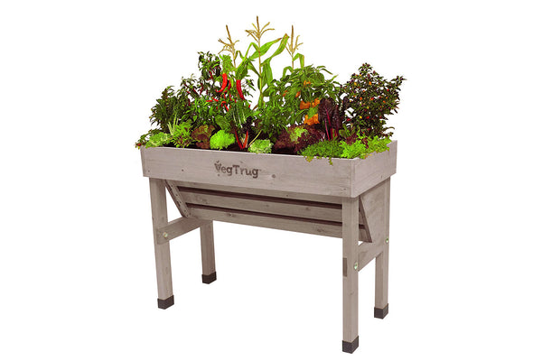 VegTrug Wooden Planter - Wallhugger Small Grey Wash