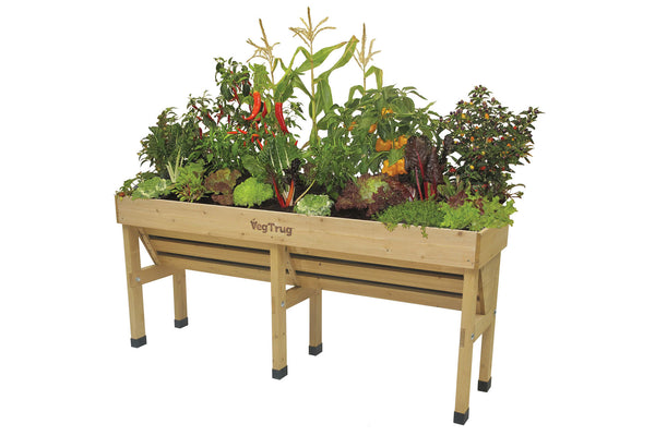 VegTrug Wooden Planter Natural - Wallhugger Medium