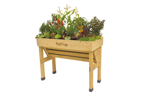 VegTrug Wooden Planter Natural - Wallhugger Small