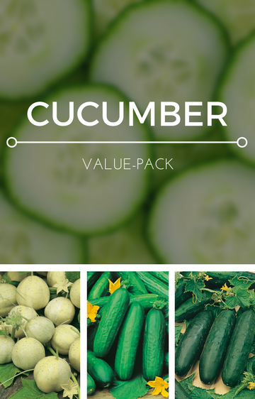 Cucumber 3-in-1 Seed Pack