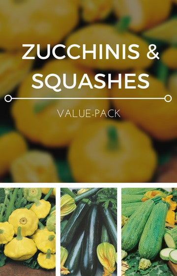 Zucchinis & Squashes 3-in-1 Seed Pack