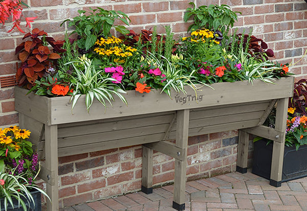 VegTrug Wooden Planter - Wallhugger Medium Grey Wash