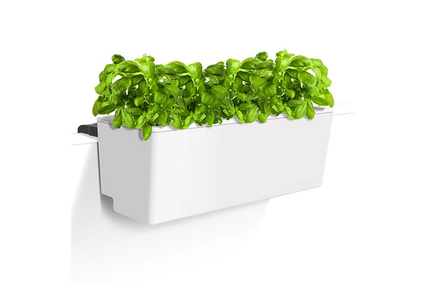 Glowpear Mini Rail Planter - Self Watering Balcony Planter