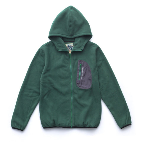 RAW FLEECE ZIP-UP JACKET