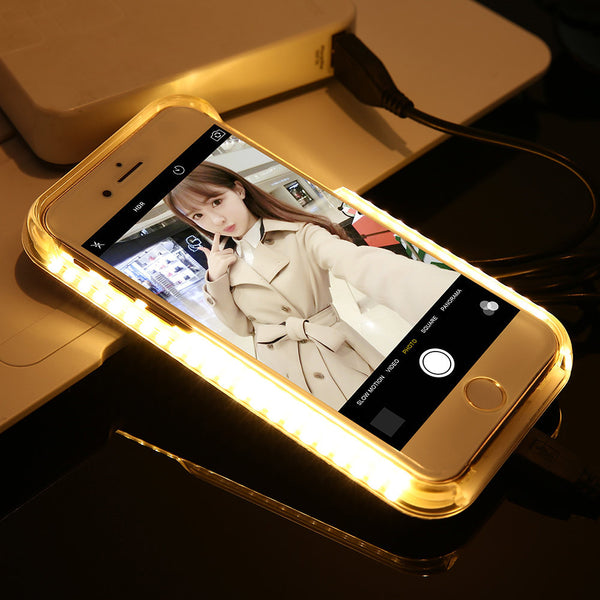 [CNC STYLE] LED Lighting Selfie Phone Case For Iphone 6 6S 7 7Plus Samsung S6 S7 Edge - CNCstyle by Chloe&Claire
