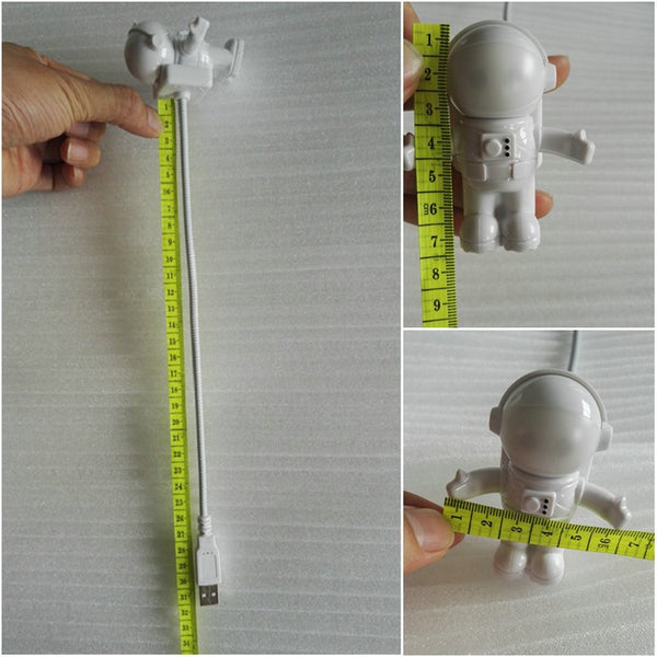 Led Usb Night Light Cute Gravity Astronaut Spaceman Flexible Tube Night Lamp For PC Portable - CNCstyle by Chloe&Claire