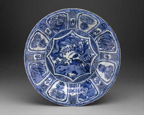 Chinese, for European market; Dish; Ceramics-Porcelain-Export