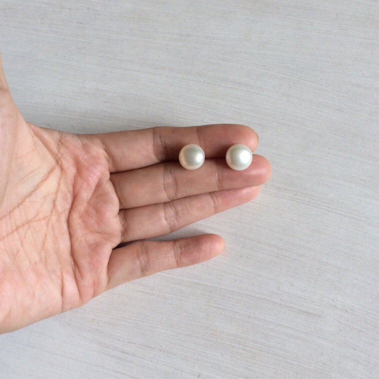 Smooth Freshwater Pearl Studs