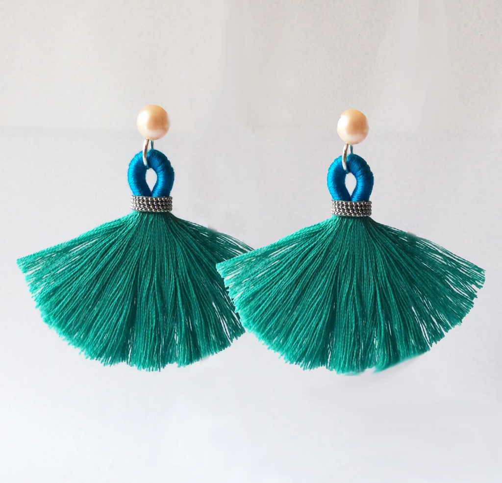 Custom Order for Karin. Tassel Earring Jackets :: Rio. Large.