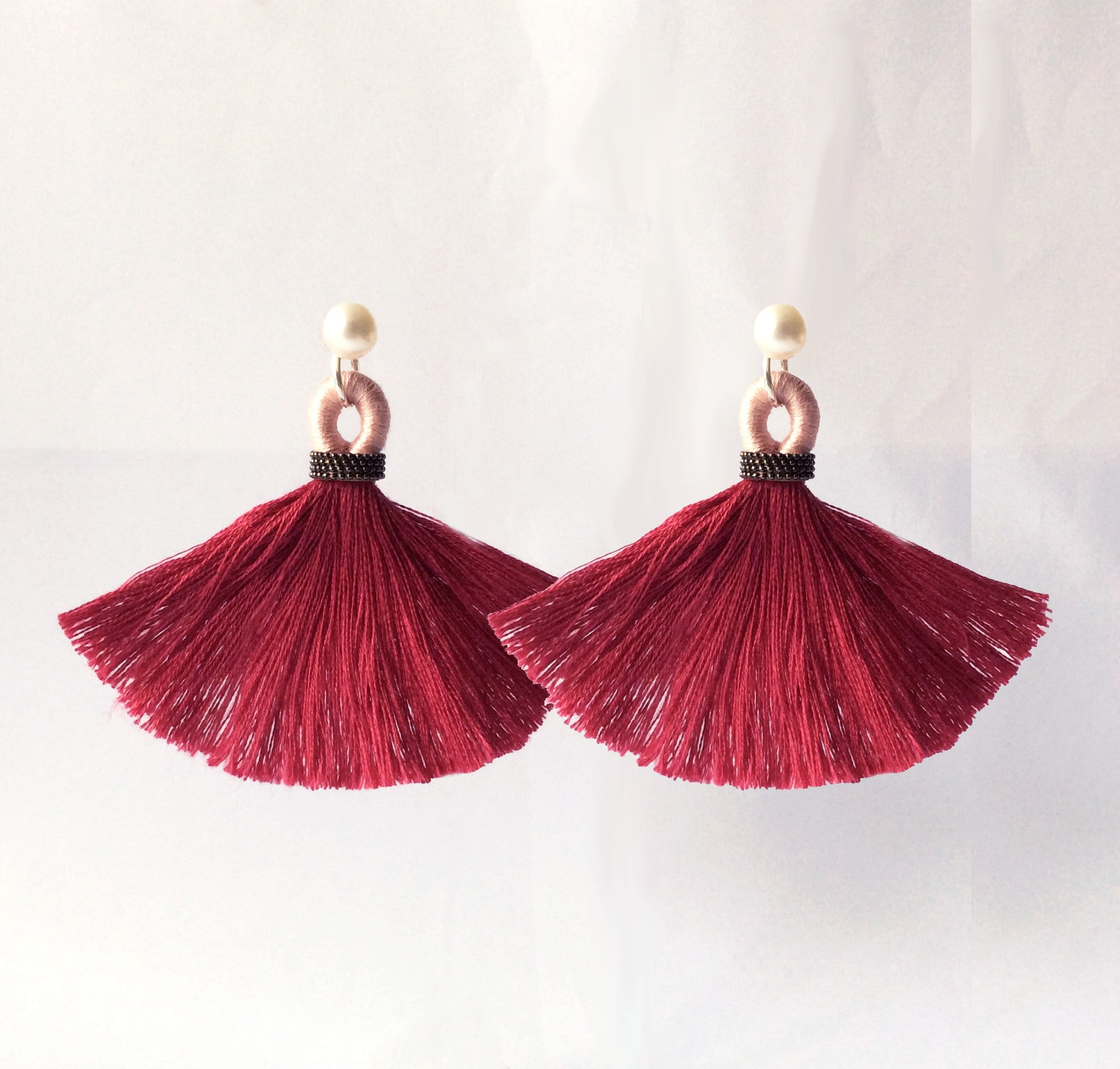 Tassel Earring Jackets :: Savannah