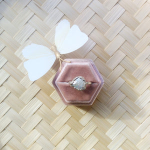 Olivia freshwater pearl ring. Velvet ring box included.