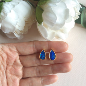 Natural opal stud earrings