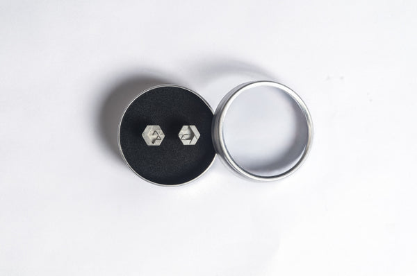 Micro Concrete Earrings #2