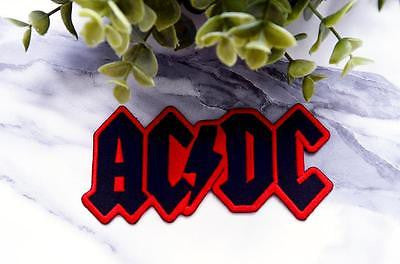AC/DC RED  Music Iron on Patch