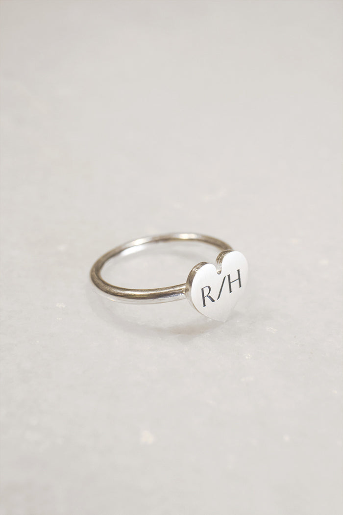R/H HEART RING