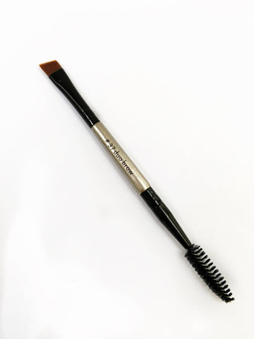 Dual Ended Angled Eyebrow Brush
