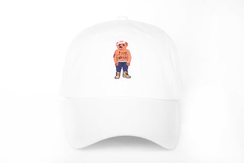 PAC Bear Strapback in White