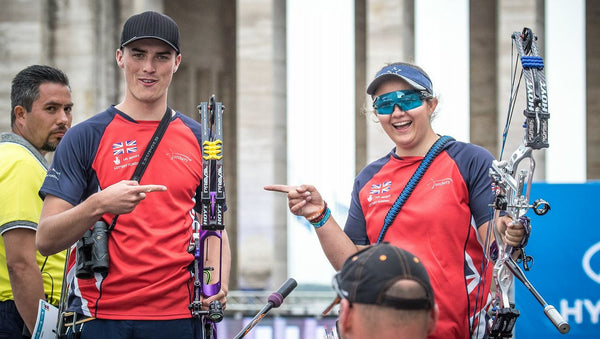 James Howse and Sarah Moon Mixed team victory