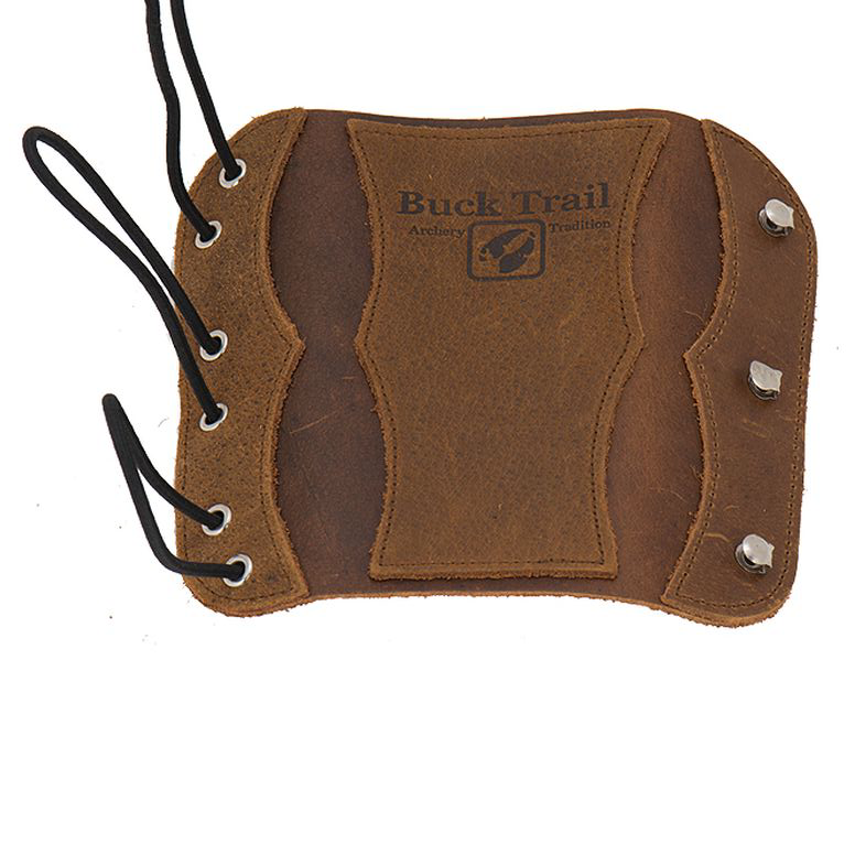 Buck Trail Traditional Armguard Velvet Brown Leather w/ Reinforcement