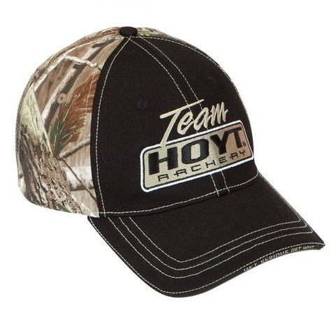 Team Hoyt Black and Camoflauge Shooter Cap
